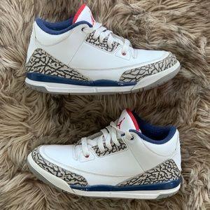 Retro air Jordan 3 III true blue white cement 2.5